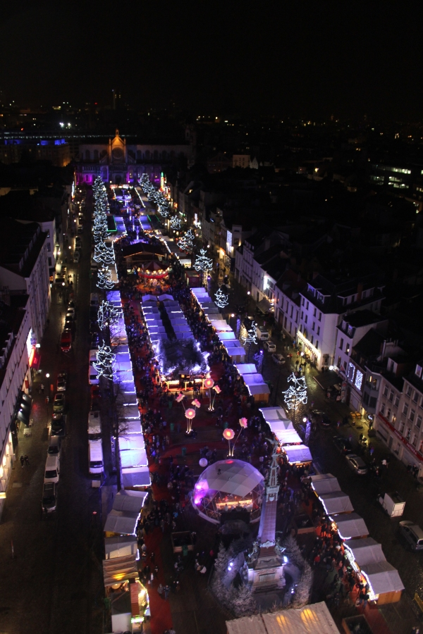 Brussels Christmas Market Ferris Wheel View