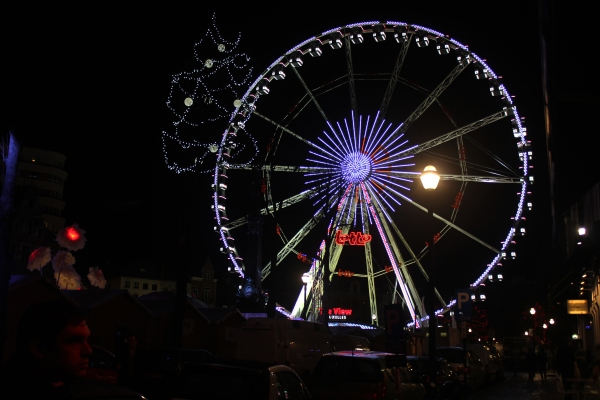 Brussels Christmas Market Ferris Wheel