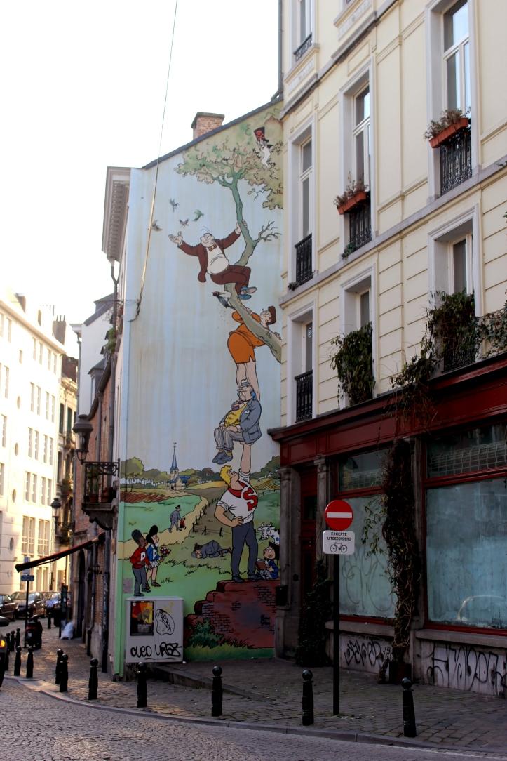 Brussels Comic Strip Wall 3