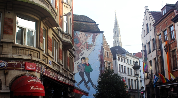 Brussels Comic Strip Wall 4