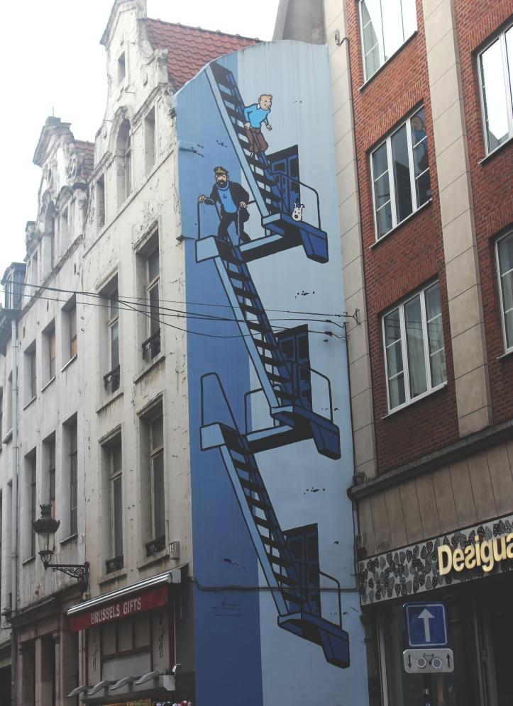 Brussels Comic Strip Walls 1