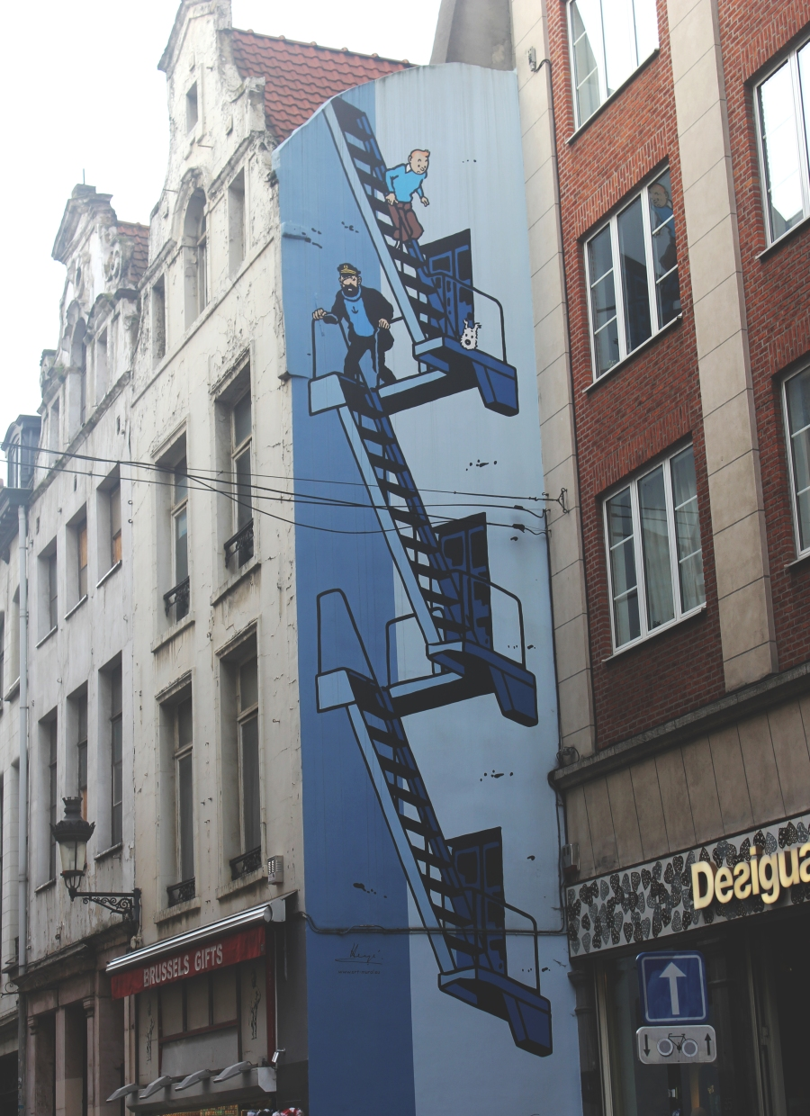 Brussels Comic Strip Walls 1