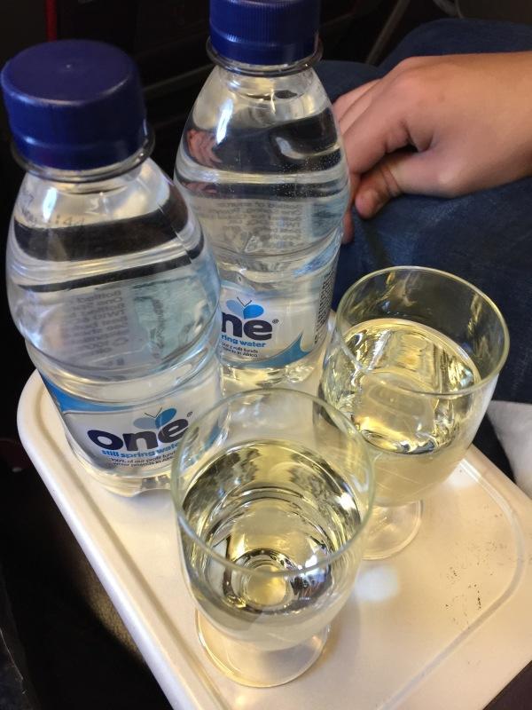 Virgin Atlantic welcome drinks
